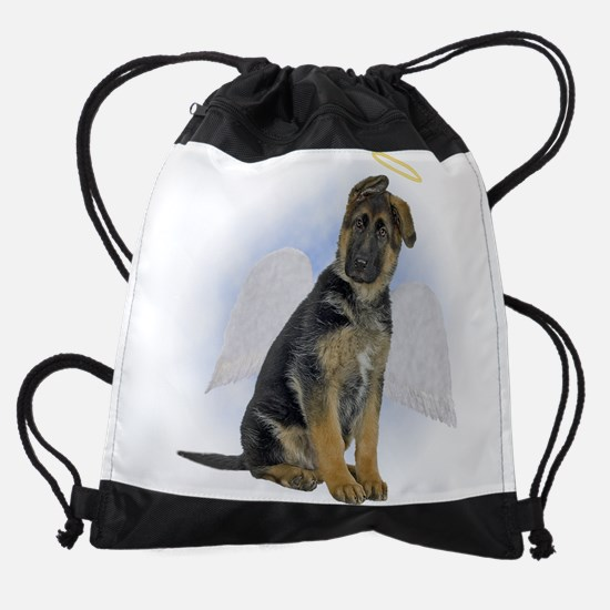 FIN-german-shepherd-angel.png Drawstring Bag