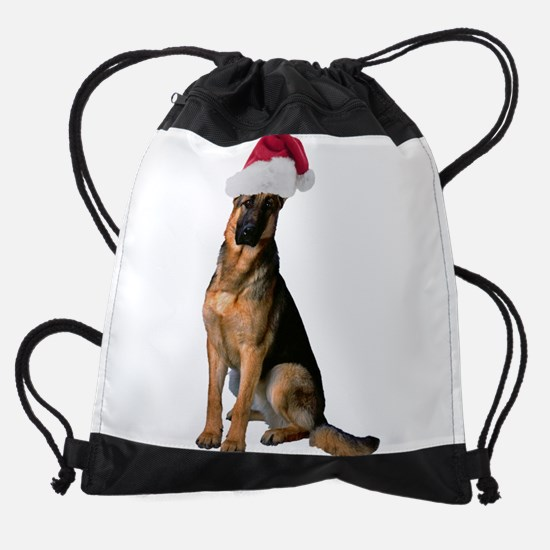 FIN-santa-german-shepherd.png Drawstring Bag
