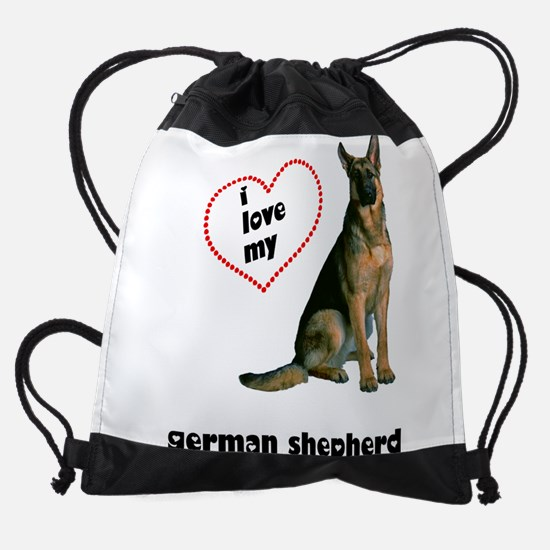 FIN-german-shepherd-love.png Drawstring Bag