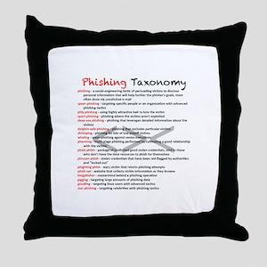 Phishing Taxonomy Throw Pillow