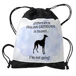 FIN-italian-greyhou... Drawstring Bag