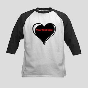 Customizable Heart Kids Baseball Jersey