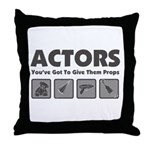 Props Throw Pillow
