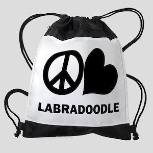 Peace Love Labradoodle. Drawstring Bag