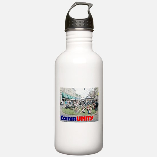Community is progress! Water Bottle