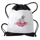 Dogs maltese Drawstring Bag