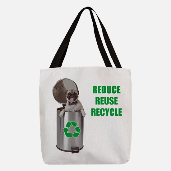 FIN-pug-recycle.png Polyester Tote Bag