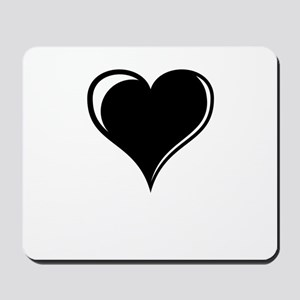 Black and White Heart Mousepad
