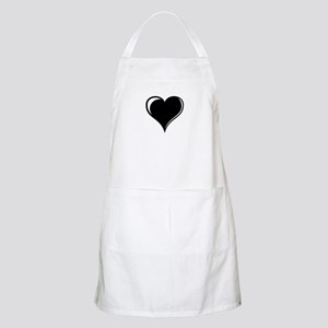 Black and White Heart Apron