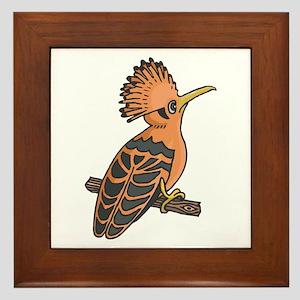 Hoopoe Bird Framed Tile