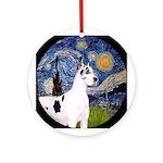 Starry Night Harlequin Ornament (Round)