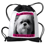 Heavenly Shih Tzu Drawstring Bag