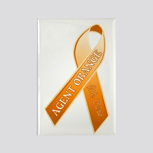 AO Orange Ribbon Rectangle Magnet