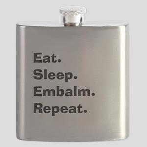eat sleep embalm Flask