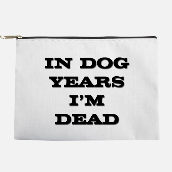 FIN-dog-years-dead.png Makeup Pouch