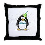 Senior Party Penguin Throw Pillow