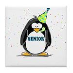 Senior Party Penguin Tile Coaster