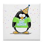 Senior 2007 Party Penguin Tile Coaster