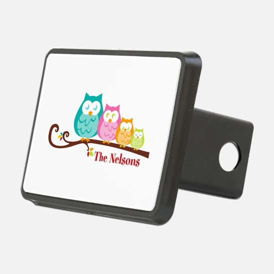 Custom owl family name Hitch Cover