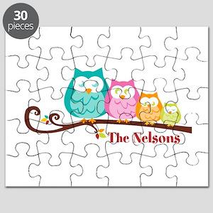 Custom owl family name Puzzle