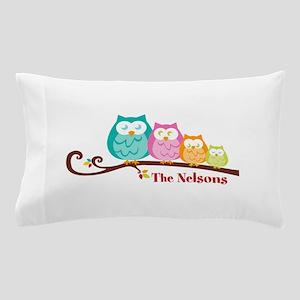 Custom owl family name Pillow Case