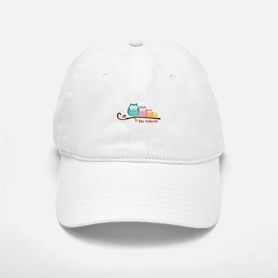 Custom owl family name Baseball Baseball Cap