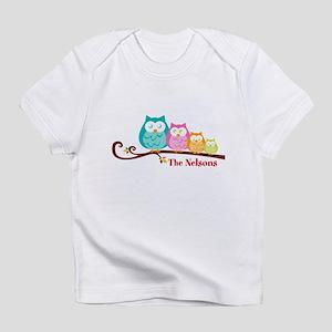 Custom owl family name Infant T-Shirt