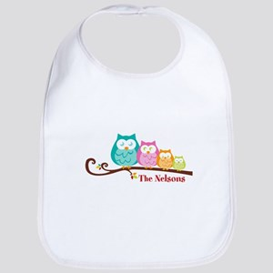 Custom owl family name Bib