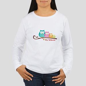 Custom owl family name Women's Long Sleeve T-Shirt