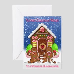 Granddaughter Gingerbread Christmas Card