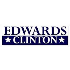 Edwards-Clinton 2008 bumper sticker