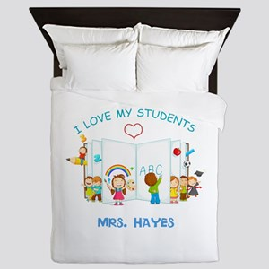 Custom Teacher Queen Duvet