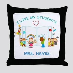 Custom Teacher Throw Pillow