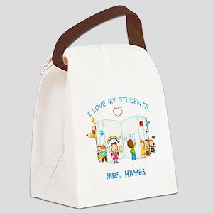 Custom Teacher Canvas Lunch Bag