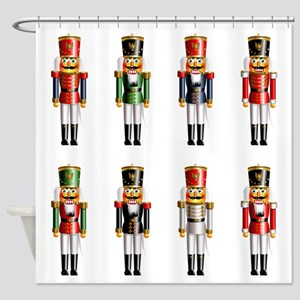 Nutty Nutcracker Toy Soldiers Shower Curtain