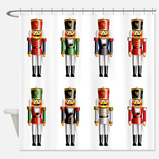 Nutty Nutcracker Toy Soldiers Shower Curtain