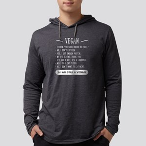 I am Still vegan Mens Hooded Shirt