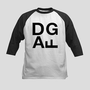 DGAF Black Kids Baseball Jersey