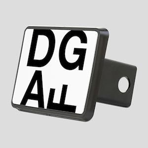 DGAF Black Rectangular Hitch Cover