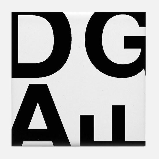 DGAF Black Tile Coaster