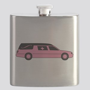 Pink And Black Hearse Flask