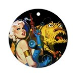 The Moondog and His Mistress Ornament (Round)