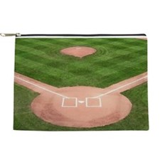 Baseball Diamond Makeup Pouch