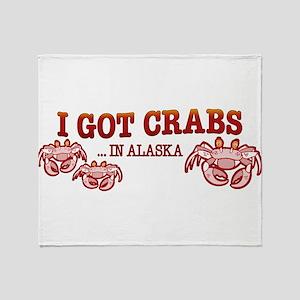 I GOT CRABS IN ALASKA Throw Blanket