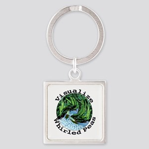 Visualize Whirled Peas Square Keychain