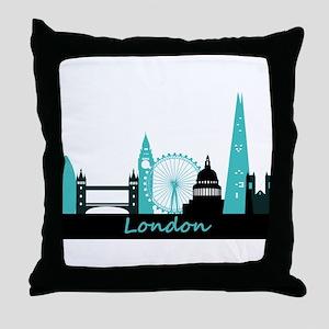 London landmarks Throw Pillow