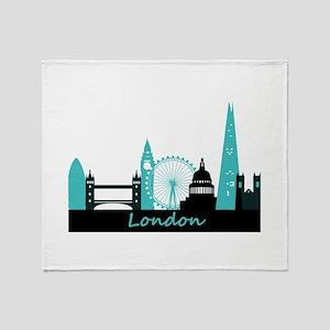 London landmarks Throw Blanket