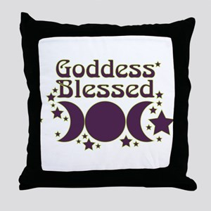 Goddess Blessed Throw Pillow