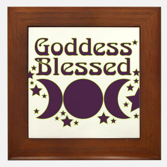 Goddess Blessed Framed Tile
