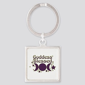 Goddess Blessed Square Keychain